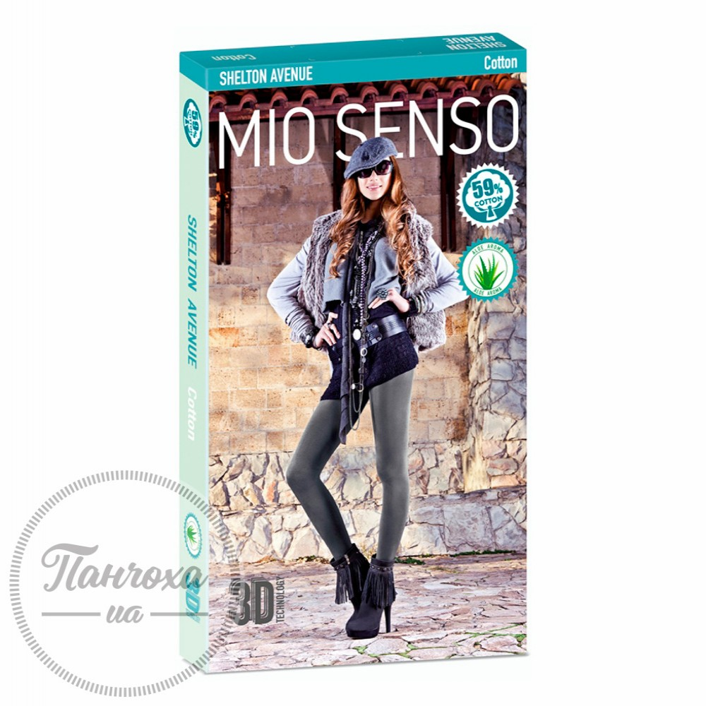 Колготи жіночі MIO SENSO SHELTON AVENUE (cotton) р.5 Темно-сірий